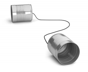 Tin can communication device